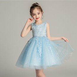 fbf2ec0a2 2019 New Summer New Girls Party Dress 4-12 Years Girls Lace Princess Dress  For Wedding Flower Girl Party Pageant Dresses