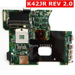x58 motherboards Rabatt K42JR Mainboard REV 2.0 Für ASUS A42J X42J K42J K42JR K42JK K42JE K42JZ K42JY Laptop Motherboard 1 GB VRAM Test 100% OK