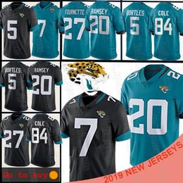 2019 jersey 84 20 Jalen Ramsey Jacksonville 7 Nick Foles Jaguar Jersey 84 Keelan Cole 5 Blake Bortles 27 Leonard Fournette camiseta de fútbol