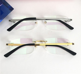 23fb0d2bd743 Mens Rimless Gold Eyeglasses Frame Optical Glasses Eyewear Eyeglass Frame  Designer Sonnenbrille Eyeglasses Square New with box affordable mens rimless  ...