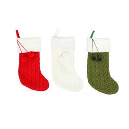 meias artesanais Desconto Chrismas Socking Gift Bags Hand Making Crafts 3 Cores Meias Penduradas Xmas Tree Patter Gift Bag Decoração Meias Doces Suprimentos Festival 08