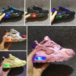 nike Huarache Flash Light Air Huarache Kids 2018 Nuevas zapatillas para correr Infant Run Children Zapato deportivo al aire libre Luxry Tenis Huaraches Entrenadores Zapatillas de deporte para niños desde fabricantes