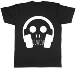 2019 cráneos de auriculares Skull Headphones para hombre para mujer Damas Unisex camiseta Divertido envío gratis Unisex Casual cráneos de auriculares baratos