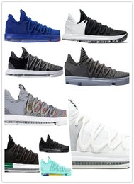 Kd blu scarpe da basket online-2019 Nuovo arrivo What the KD X 10s Ice Blue Pink Green Scarpe da pallacanestro sportive 10s Kevin Durant 10 Scarpe da ginnastica atletiche US 7-12