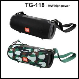 Barra de som ao ar livre on-line-TG118 Sem Fio Bluetooth Speaker Portátil Extream Big Speaker Estéreo Super Bass Soundbox Ao Ar Livre Soundbar Boom Box