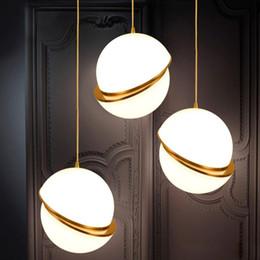 luzes led esféricas Desconto Novidade esférico iorn pendurado lâmpada LED E27 sotão pingente moderno luminária para sala de estar do hotel restaurante quarto estudo bar