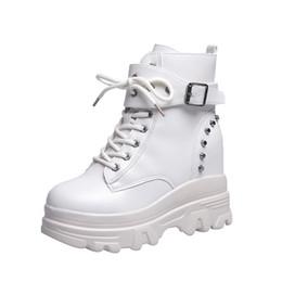 COOTELILI Femmes Cheville Bottes Plateformes Chaussures Femme Talons hauts À L intérieur Hauteur Croissante Faux daim Bottes Lacets Sneakers 35 39