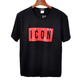200g 100% pamuk Erkek Tasarımcı T Shirt Siyah Beyaz Erkek Moda Tasarımcısı ICON T Shirt Üst Kısa Kollu M-XXXL nereden