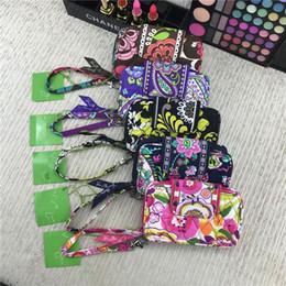 VB Zip ID Card Case Designer Porte-monnaie Porte-monnaie Portefeuilles Floral Print titulaire de la carte Slots Rétro sacs à main pastoraux Tote Bag avec longes nouveau C72707 ? partir de fabricateur