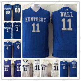 6ab8f5442a87 NCAA Kentucky Wildcats Basketball Trikots 11 Wand 0 Delk 1 Booker 4 Rondo  Weiße blaue College Basketball Heißer Verkauf Jersey