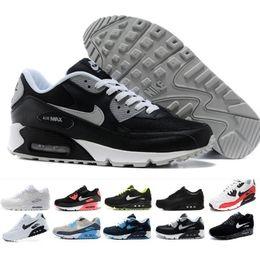 2019 cuñas coreanas tacones sandalias nike air max 90 airmax Zapatillas de deporte para hombre Zapatillas clásicas 90 para hombre y mujer Zapatillas de deporte Zapatillas de deporte de superficie transpirable