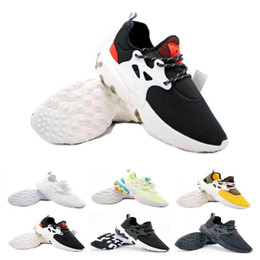 shoes flat feet men Coupons - Top sale Presto Mid Epic React Men Women Running Shoes Comfortable Foot Feel Mesh Breathable Sneakers Black White Casual Shoes