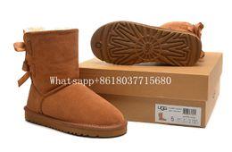 Livraison gratuite Top qualité Australie WGG 3280 classique haute haute Bottes d'hiver en cuir Bailey Bowknot bailey bow femme neige Bottes chaussures Botte ? partir de fabricateur