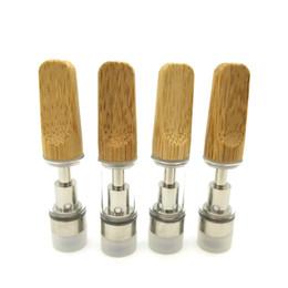 Drip di bambù Argento Olio spesso TH205 TH210 Cartucce di vaporizzazione Bobina di ceramica Atomizzatore Fumo Vaporizzatore per serbatoio in vetro Pyrex DHL da