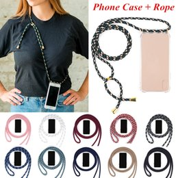 2019 lemfo bluetooth smartwatch Caso del iPhone de cuerda desmontable correa del teléfono celular de la manera del cuello del acollador retráctil collar de silicona con regalos de cuerda de joyas