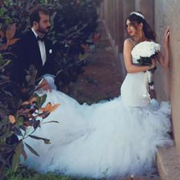Robes de mariée sirène spaghetti sangles dos nu niveaux robes de dentelle arabes femmes africaines filles noires robes de mariée mariage ? partir de fabricateur