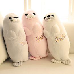 Nuovo stile L Sea Lion peluche bambola Acquario Dai al tuo fidanzato un regalo di compleanno Sea Lion Pillow da l bambole fornitori