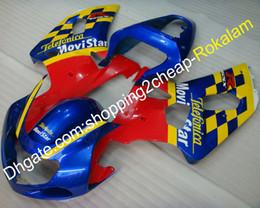 Canada K1 Kit de carénage pour Suzuki GSXR600 GSXR750 GSX-R600 GSX-R750 GSXR 600 750 2001 2002 2003 Ensemble de carénage en ABS rouge bleu jaune (moulage par injection) Offre