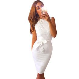 Белое кружевное коктейльное платье онлайн-Женщины Белое Платье Карандаш Рукавов Кружева Цветок Вечернее Коктейльное Свадебное Платье пакет хип платье чисто белое