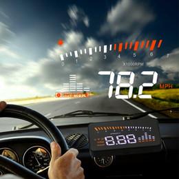 cabeça carro up display sobre a velocidade Alarm Adapter X5-OBD2-HUD projeção carro velocímetro digital no pára-brisa de