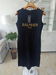 Argentina 2019 Balmain Vestidos informales 100% ropa casual Durable para mujeres Camiseta Camisa Talla S M L Suministro