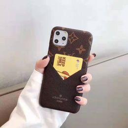 funda de coche de lujo iphone Rebajas Top diseñador famoso Imprimir caja del teléfono de la flor por un IPhone 11 Pro Max X X Max Xr 8 7 6 6s Plus cuero de la piel de la cubierta de Shell del estilo