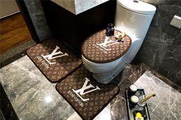 tapetes de moda Desconto Carta marrom Tapete de Impressão New 3PS Tapete Do Banheiro New Popular Logotipo Moda Tapetes de Banho Tapete Não-Slip Tapete de Banheiro Tapete Do Banheiro tapetes