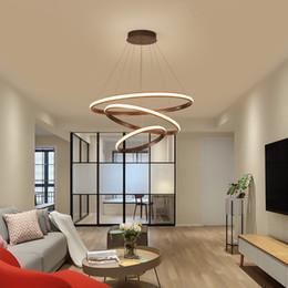2019 luzes da internet Anéis Círculo nórdico moderno led lustre atmosfera home Internet Celebrity luzes simples sala de estar escadaria quarto Fixture luzes da internet barato
