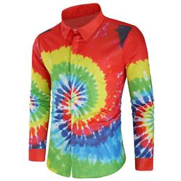 пейсли принт рубашки мужские Скидка  New European Hip Hop Mens Long Sleeved Shirts Fashion Paisley Printing Shirts Male M-2XL 2019 Dec8