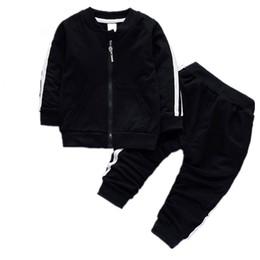 Canada Printemps Automne Bébé Garçons Filles Coton Veste Pantalon 2pcs / ensembles Survêtement Infant Enfants Vêtements Suts Enfants Zipper Offre