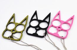 Wholesale Knuckle Dusters kediler Kolye Anahtarlık Anahtarlık Tuşları Için Araç Telefonu Çanta Çanta Çift Anahtar Zincirleri Hediyeler El Sanatları ücretsiz kargo