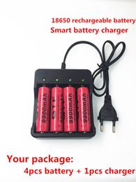 bateria de polímero de lítio de alta capacidade Desconto 18650 4pcs nova bateria recarregável 18650 3,7 V 9900 mAh Li ião 18650 18650 batery carregador de bateria inteligente
