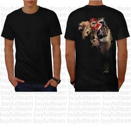 Maglia di lione online-Lion King Of Africa Wild Animal Mens maniche corte nera Tops Moda girocollo T-shirt Taglia S M L XL 2XL 3XL