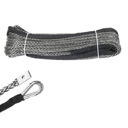 10mm/×100m Cable Sint/ético,UHMWPE Rope,Synthetic Winch Rope for ATV UTV Vehicle,Offroad Rope Grey