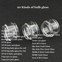 ampoules vape stylos Promotion Tube de verre à bulles Fat Extend pour Prince Resa TFV8 stylo plume grand bébé RBA X-baby 22 plus Cleito 120 Sky Solo Plus SKRR-S Mini Zeus X DHL