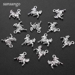 in argento placcato stampaggio vuoto Sconti 10 pz 14x15mm charms a forma di cavallo argento tibetano pendenti perline per fare gioielli accessori artigianali fai da te collana braccialetto regalo