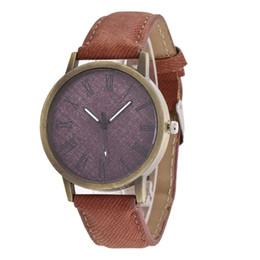 2019 relógios de pulso Hot Denim Relógio De Couro De Lona de Roma Relógios de Pulso dos homens Negros Mens Relógios Presentes de Aniversário para o Marido relógios de pulso barato