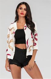 2019 casual mäntel für damen Mode Digital bedruckte Frauen Jacken Frühling Designer Stehkragen Mantel mit Reißverschluss Casual Holiday Style Damen Mäntel rabatt casual mäntel für damen