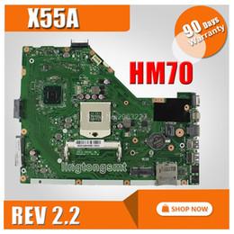 placas base de fru Rebajas X55A placa base REV2.2 HM70 para ASUS X55A placa madre del ordenador portátil prueba de placa base 100% OK