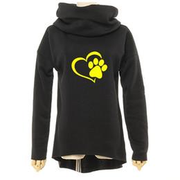Animal Chat Chien Femmes D'hiver Hoodies Col Écharpe À Manches Longues De Mode Casual Automne Sweatshirts Rugueux Pulls ? partir de fabricateur
