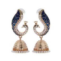 Retro  Bollywood Kundan Peacock Jhumka Jhumki Drop Earrings Gypsy Jewelry от