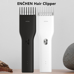 Mens trimmer on-line-Xiaomiyoupin ENCHEN impulso Mens elétricos Cabelo Clippers sem fio Clippers adultos Razors profissionais Aparadores Canto Navalha Hairdresse 3031710
