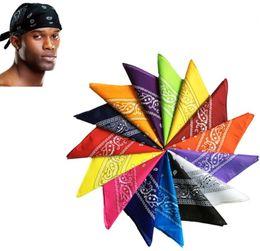 Canada 18 Couleurs Polyster Hip Hop Foulard Femmes Hommes Écharpe Bandana Bandeau Foulards Écharpes Wraps Cou Poignet Wrap Headtie Cadeau Couverture Serviette Offre