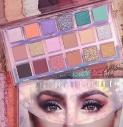 Freie lidschatten online-Marke Mercory Rückläufige 18 Farben Lidschatten-Palette NUDE 18 Farben Lidschatten Schönheit Makeup Shimmer Matte Lidschatten DHL-freies Verschiffen