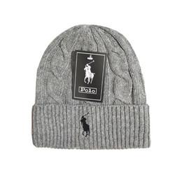 Mens Beanie Winter-Wolle-Hut neue Art und Weise der Frauen gestrickte verdicken Warm Polo Beanie Bonnet Cap von Fabrikanten