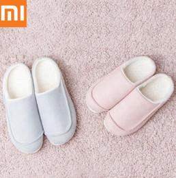 Nueva Xiaomi One Cloud Suede Pull Zapatillas de algodón antideslizantes Zapatillas de invierno Inicio Zapatillas Calientes Transpirables Hombres Mujeres desde fabricantes