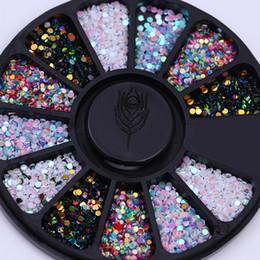 pequenas pedras de cor Desconto Cor misturada Camaleão Pedra Prego Strass Pequenas Contas Irregulares Manicure 3D Nail Art Decoração Em Acessórios Da Roda