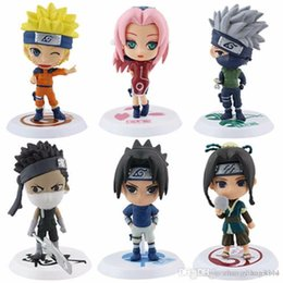 naruto sakura figures Coupons - 6Pcs set Anime Naruto Cartoon Q Version Naruto Kakashi Sakura Sasuke  PVC Model Toys Action Figure For Kids Collectible Toy Doll