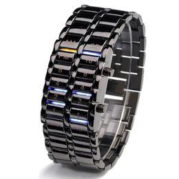 Paar Uhren Kreative LED-Licht Elektronische Armband Leben Wasserdicht Binär Komplette Kalender Monat display Mode Lässig von Fabrikanten