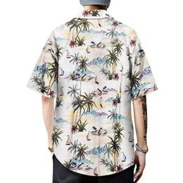 Weiß über hemd online-Herren 3D Print Bluse New Summer Kurzarm Shirt Fashion Top Männlich Hawaiian Beach Holiday Loose Umlegekragen Causal White